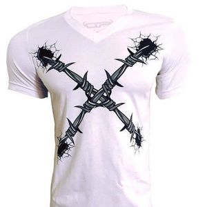 New X barbed wire T-shirts.
